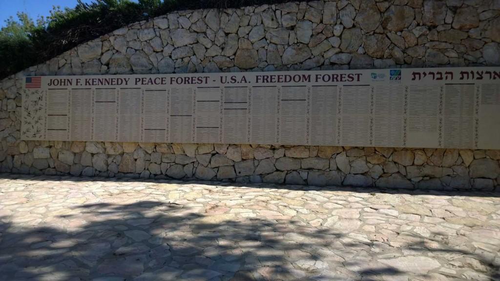Kennedy Memorial, KKL Wald