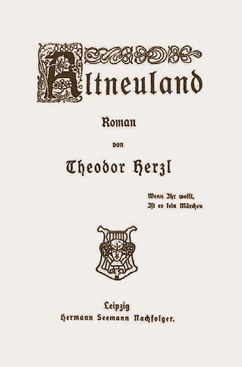 """Erste Ausgabe von theodor Herzl """"Altneuland"""" 1902"""