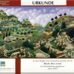 Spenden-Urkunde des KKL-Deutschland urkunde Berge Jerusalem