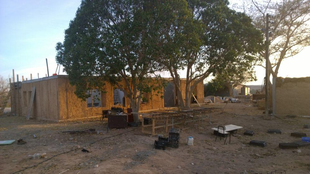 Hausbau in Neot Semadar mit der Unterstützung von Spendern des KKL