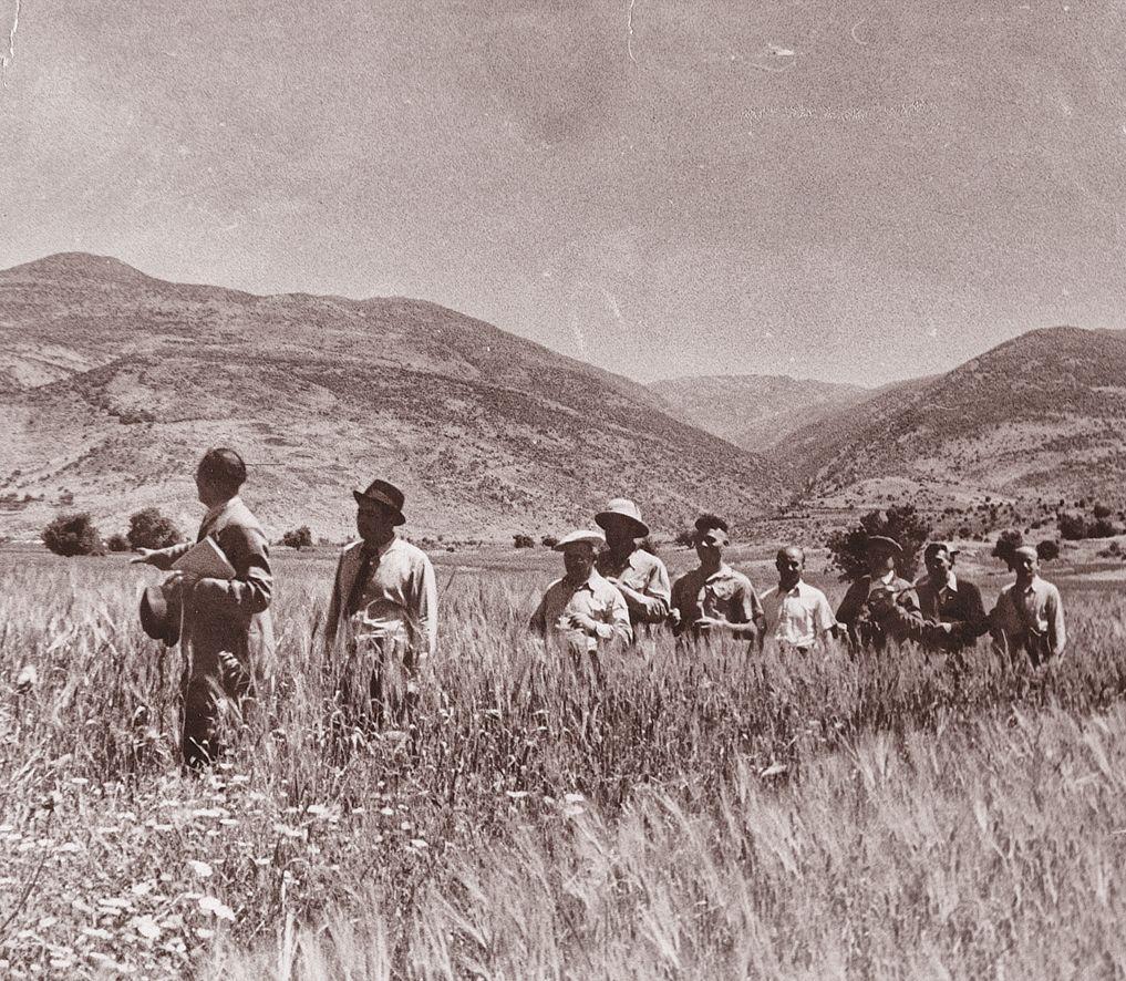 JNF-KKL: besichtigt im April 1938 Ländereien für den Kibutz Daphna