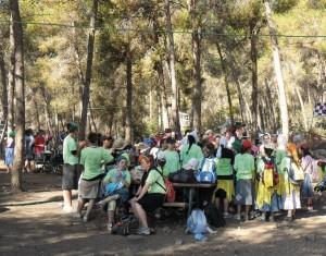 Sehen, wo die Spenden hinkommen: von deutschen JNF-KKL Spendern finanzierter Picknickplatz