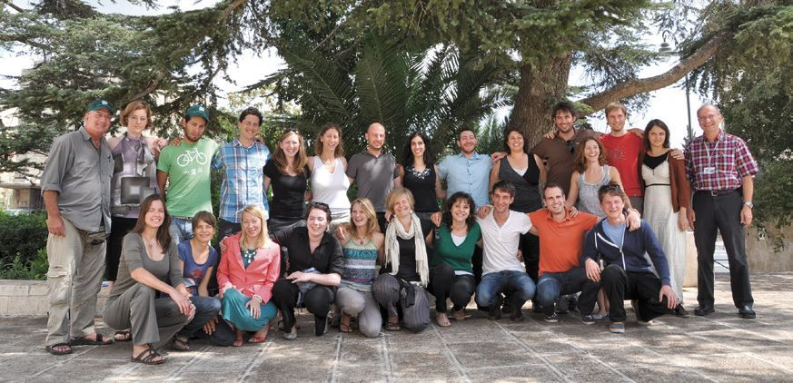 Mitglieder des 'Young Leadership Program' greenXchange. Rechts: Hauptdelegierter Dr. Schaul Chorev