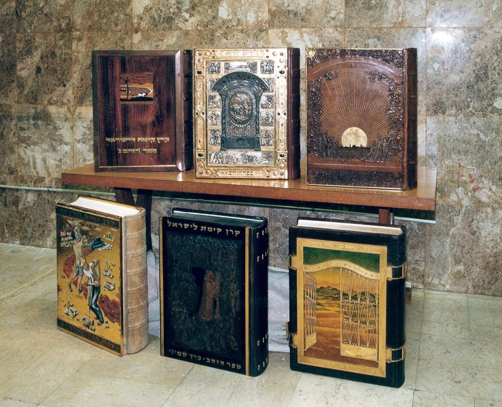 Hier wurde schon Herzl eingetragen: die Ehrenbücher des KKL