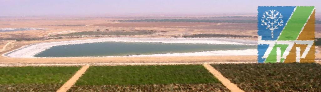 KKL Wasser Reservoir: Besor Reservoir in Israel
